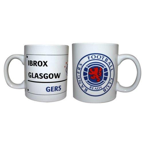 Rangers Mug - Official Glasgow Rangers Crest Mug - Ideal Football Gift