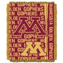 NCAA Minnesota Gophers Double Play Jacquard Throw, 48 x 60