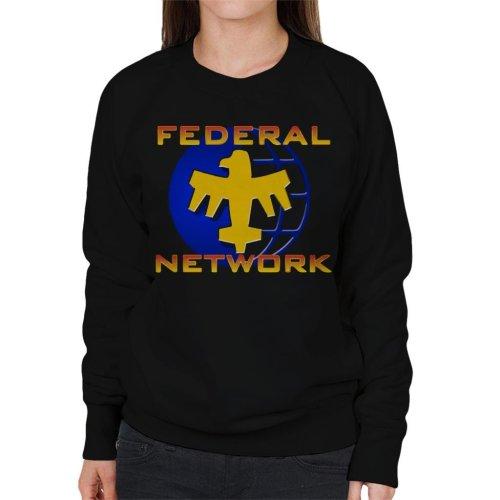 Starship Troopers Federal Network Gold Blue Logo Women's Sweatshirt
