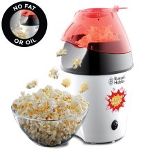 Russell Hobbs 24630 Popcorn Maker Electric Hot Air with Lid/Spoon No Oil - 1290W