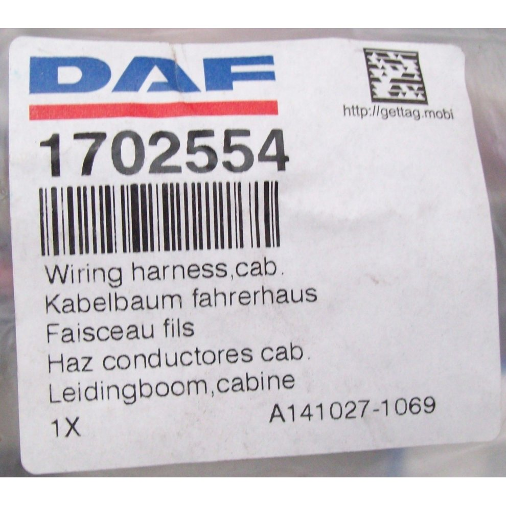 DAF Truck LF 45 55 Genuine New Front Right Door Wiring Loom Harness on