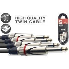 Stagg Stc Dual Mono Jack Cable (10m/33ft, Black) - Stc10p