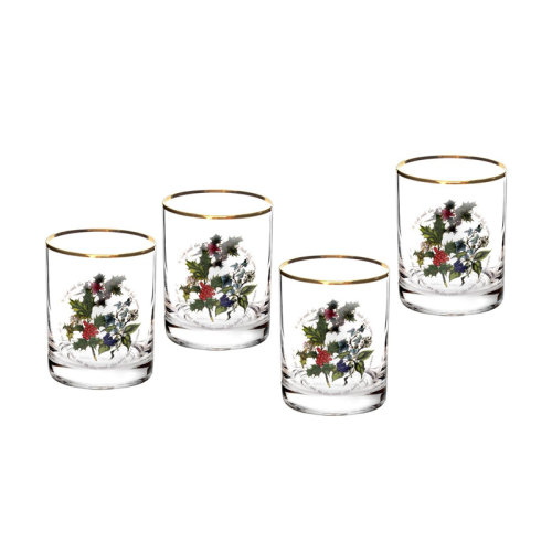 Portmeirion Holly and the Ivy Glasses Set of 4