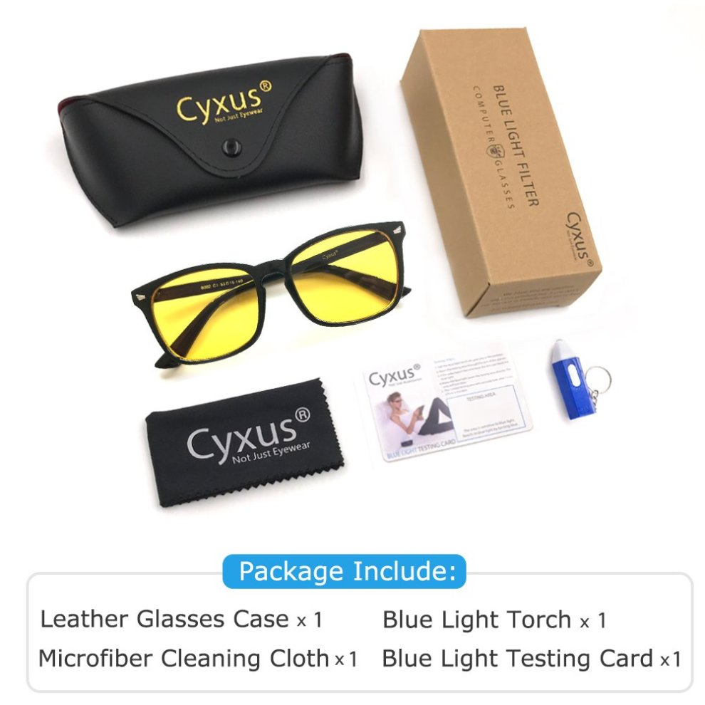 630f098fcaa1 ... Cyxus Blue Light Filter Computer Glasses for Blocking UV Headache  Anti  Eye Fatigue  Vintage.