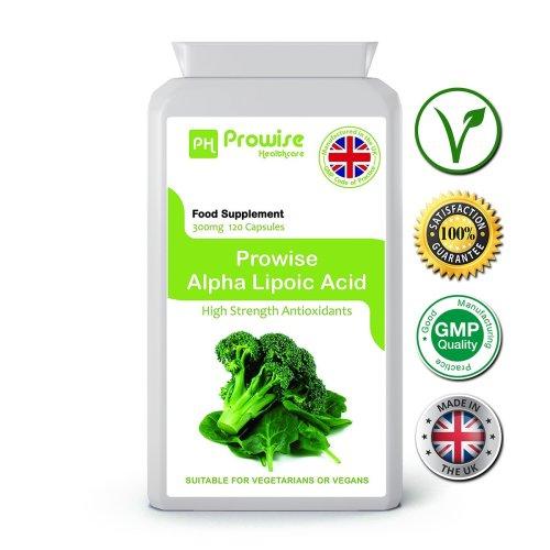 Prowise Alpha Lipoic Acid 120 Capsules 300mg UK Made
