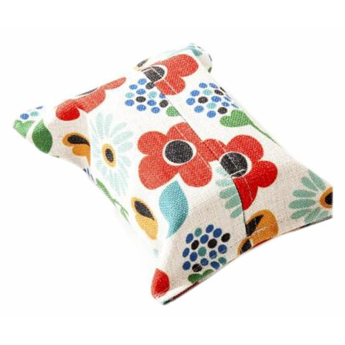 Convenient Cloth Toilet Paper Tissue Holder Storage Box Flower Multicolor