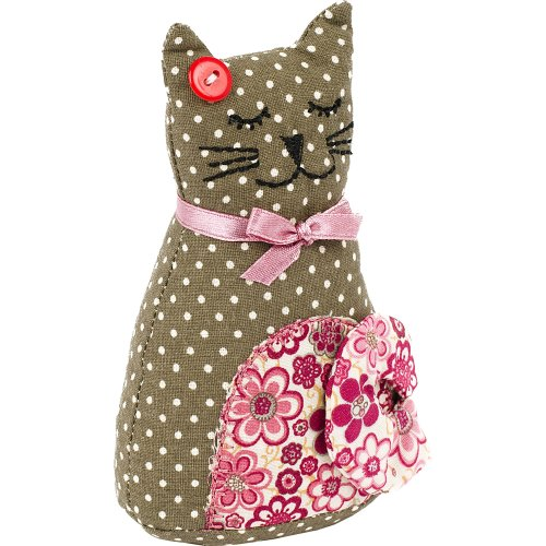 Fabric Editions Needle Creations Pincushion Kit-Cat