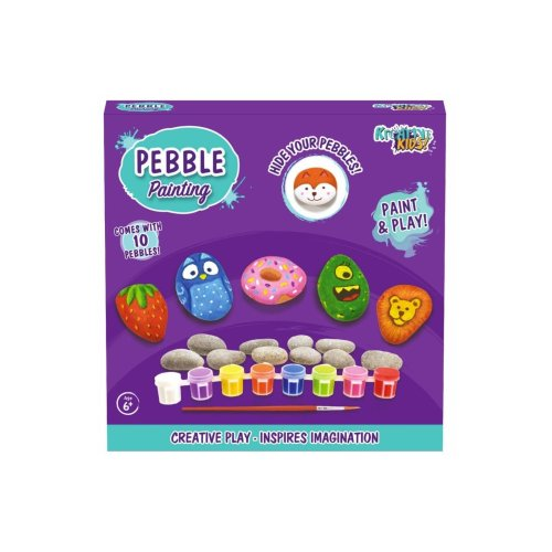 Kreative Kids Pebble Painting Set With 10 Pebbles Paint And Play Toys Children Kids