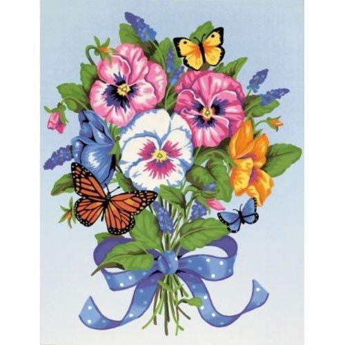 Paintsworks Learn To Paint Pansy Bouquet -  dpw91394 paintsworks learn pansy bouquet