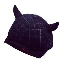 Fashion Baby Woolen Cap Winter Baseball Cap for Kids Black