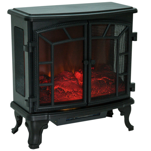 HOMCOM Freestanding Electric Fireplace Heater with LED Flame Effect Remote Control 1000W/2000W