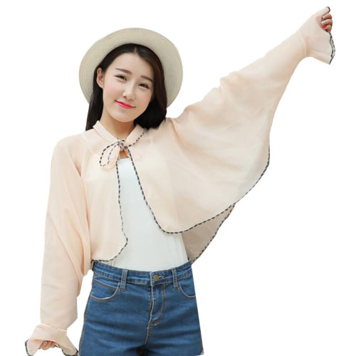 Sun Protective Clothing Women's Clothing Wraps Scarf Long Sleeve Shirts Lavender