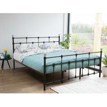 Metal Bed - Super King Size Bed Frame - Black - LYNX