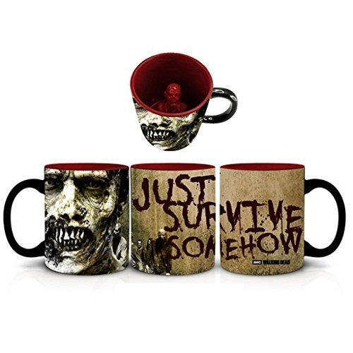 The Walking Dead Just Survive Somehow Huge 20oz Ceramic Coffee Mug with 3D Figurine Inside