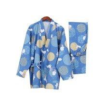 Simple Cotton Thick Pajamas Women Pajamas Suit  Bathrobe Rabbit Pattern