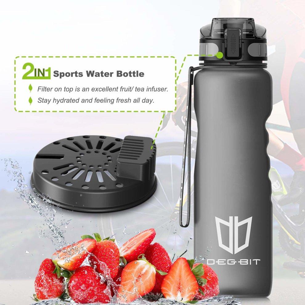 e76fc13e46 ... Degbit Leak Proof Motivational Water Bottle, 1L/500/350ml BPA Free  Sports Water. >