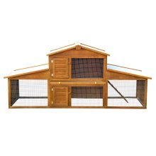 Pawhut Large Rabbit Guinea Pig Hutch House Cage Pen Wooden