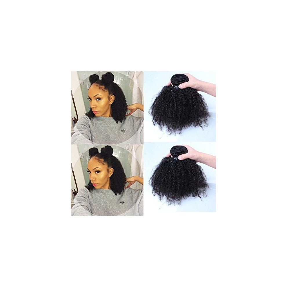 Afro Kinky Curly Human Hair Clip In Extensions Virgin Mongolian