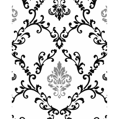 EDEM 85026BR20 Baroque wallcovering metallic highlights white black 5.33 m2