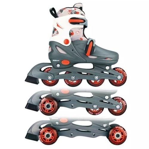 Nijdam Junior Inline Skates 34-37 Grey/Red/White 52QM