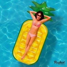 Official 'Perfect Pools' Inflatable Giant Pineapple Lilo | Pineapple Pool Float