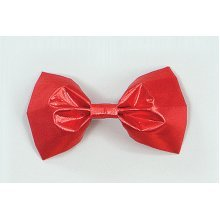 Red Satin Clown's Bow Tie -  bow fancy dress red tie accessory best circus BOW TIE ELASTIC FANCY DRESS NOVELTY RED COSTUME ACCESSORY