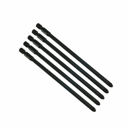 5 x SabreCut SC141PH2_5 141mm PH2 for Makita 6834 P-66254 Autofeed Collated  Drywall Screwdriver Gun Bit Single Ended Phillips No 2 Heavy Duty