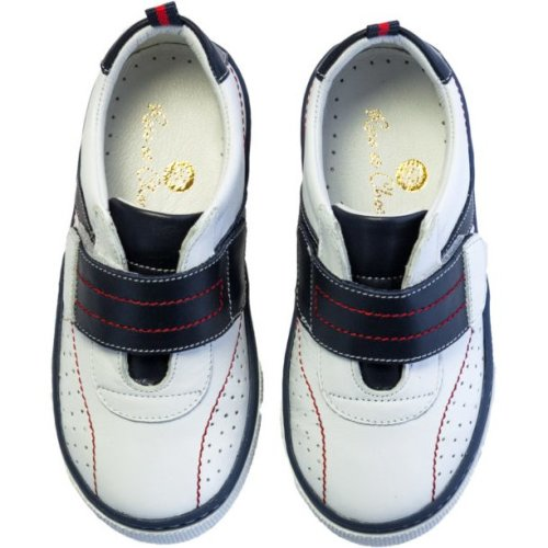 Sneakers White Red and Navy
