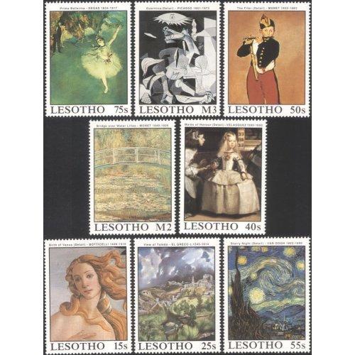 Lesotho 1988 Famous Paintings/ Art/ Ballet/ Music/ Artists/ Painters 8v set (n16921)