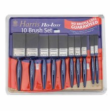 New Harris No Bristle Loss 10 Paint Brush Set Ideal Brushes For Gloss Varnish Painting