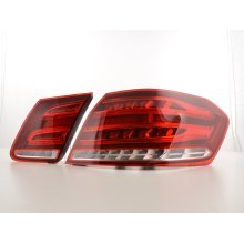 Led Taillights Mercedes Benz E-class saloon W212 Year from 2013 red/clear
