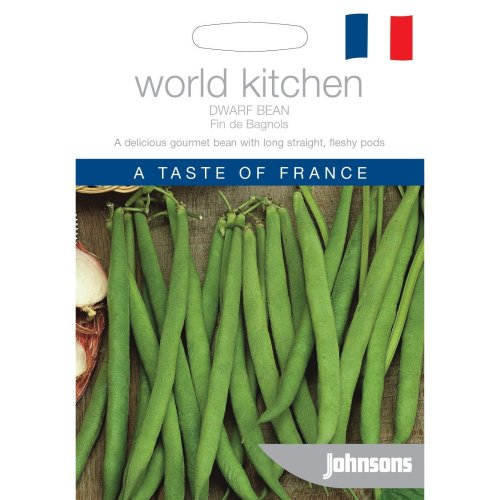 Johnsons World Kitchen Vegetable - Pictorial Pack - Dwarf Bean Fin de Bagnols - 50 Seeds