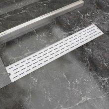 vidaXL Linear Shower Drain Line 730x140 mm Stainless Steel
