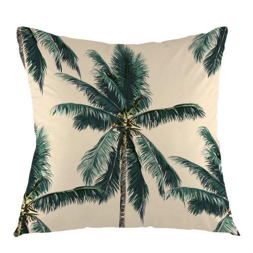 Melyaxu Palm Tree Throw Pillow Cover Square Cushion Case for Couch Sofa Home Bedroom Living Room Decorative Pillow Sham 18 x 18 Inch