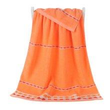 100% Cotton Soft Large Beach Towels 140*70cm, Orange
