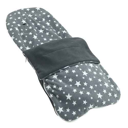Snuggle Summer Footmuff Compatible With Joie Stroller Buggy Pram - Grey Star