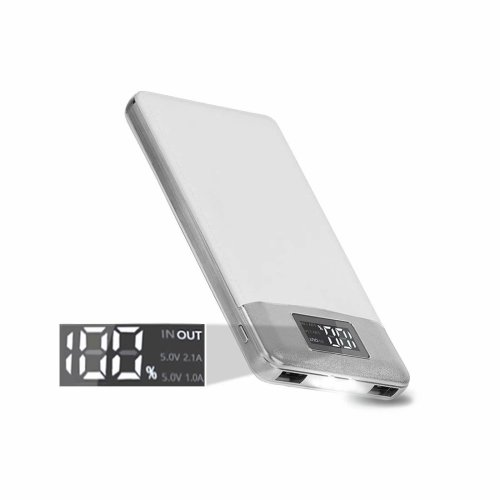 ARIO®16000mAh PU Leather Case PowerBank for all mobile phones (White)