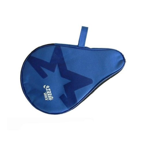 Round  Ping Pong Paddle Cover Blue Cheap Table Tennis Racket Cover