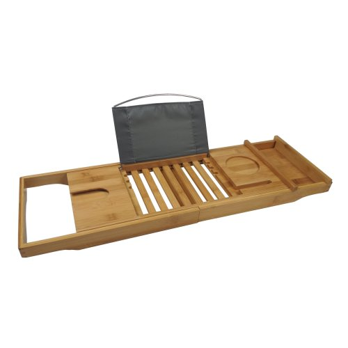 Bamboo Multi-Function Bath Tray | Wooden Bath Caddy