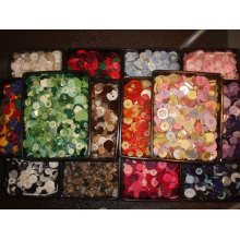 50g of Mixed Buttons for crafting, embellishments etc