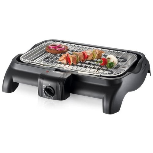 Severin Electric Barbecue Grill BBQ Variable Temperature Control Black PG1511