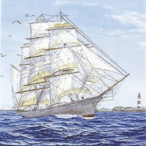 4 x Paper Napkins - Sailing Ship - Ideal for Decoupage / Napkin Art