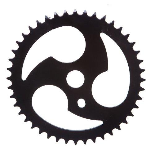 NINJA SPIRAL BMX BIKE CHAINRING 44 TEETH for ONE PIECE CRANKS BLACK