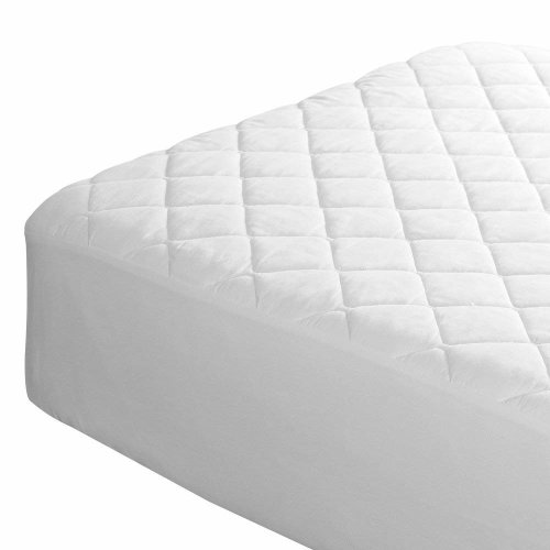 Bedding Heaven Fitted Quilted Mattress Protector. Made by FOGARTY.
