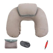 Gray Portable Travel Suit Inflatable Neck Pillow