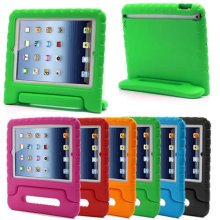Kids Childs Childrens Shockproof Foam Handle Stand Case Cover for iPad 2,3,4