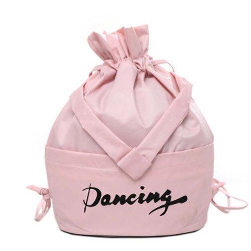 Fresh Color Dance Bags Latin Ballet Backpack Sport Bag, Pink