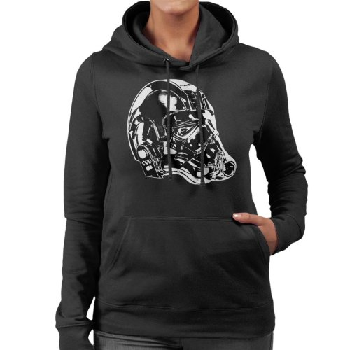 Original Stormtrooper Imperial TIE Pilot Helmet Side Shot Women's Hooded Sweatshirt
