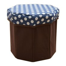 Storage Ottoman Collapsible Foldable Foot Rest Round Storag Ottoman BLUE