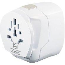 Go Travel Earthed Worldwide Adaptor - Universal Worldwide Converter - Adapter with Twin USB